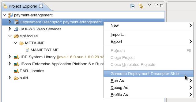 Adding a Deployment Descriptor