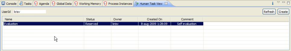 Sample Human Task View