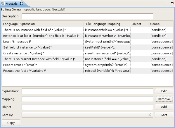 The DSL editor