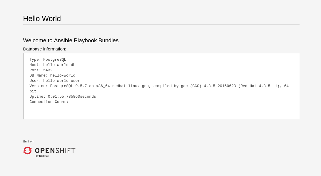Ansible Playbook Bundle Development Guide - Red Hat Customer Portal