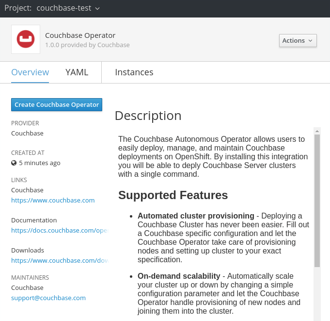 couchbase operator overview