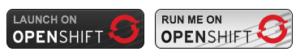Run on OpenShift Buttons