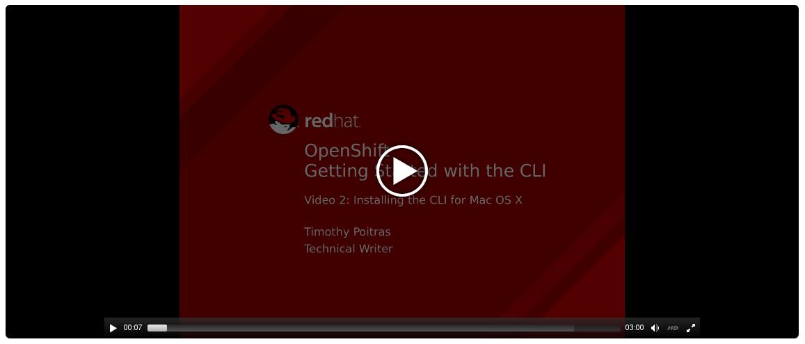 CLI Install for Mac OS X