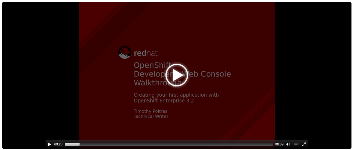 Web Console Getting Started Experience