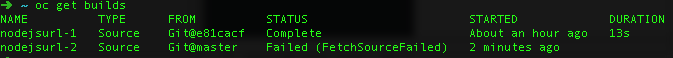 Build Failures in the CLI