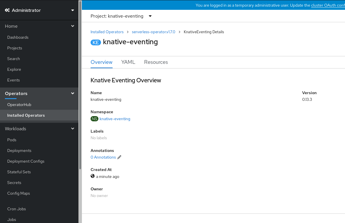 Knative Eventing Overview page