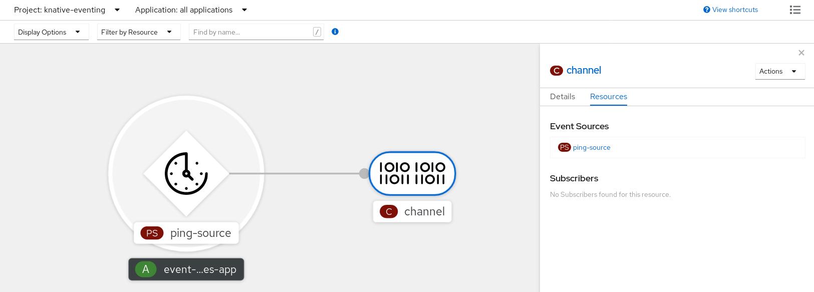 查看源和连接的频道
