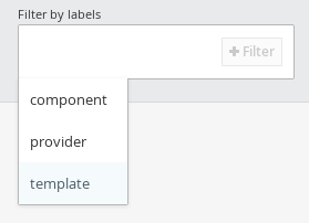 Web Console Filter Step 1