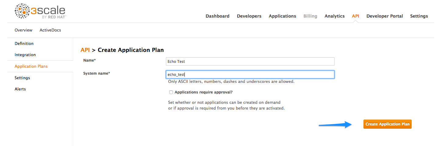 Echo API application plan
