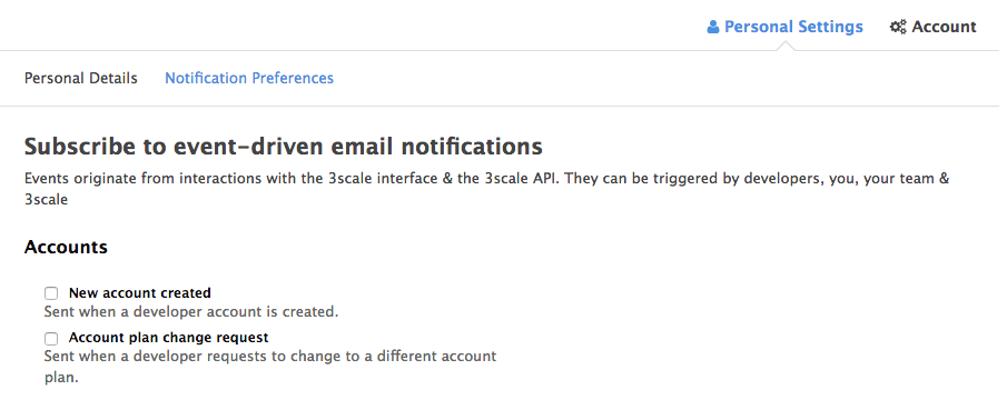 Manage notifications