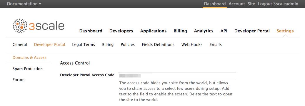 Business portal code