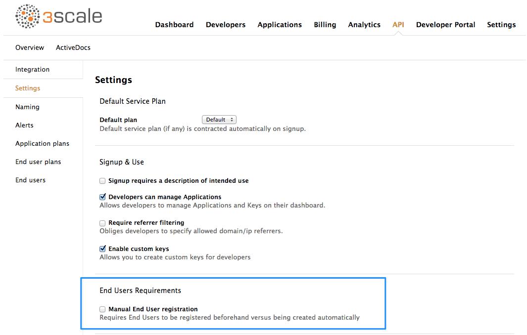 End user auto registration