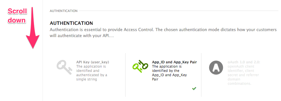 Select Authmode Step 2