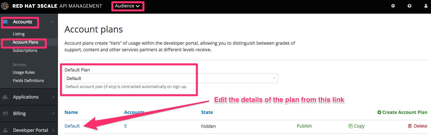 Developer signup flow account plan defaults