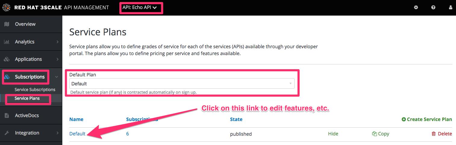 Developer signup flow service plan