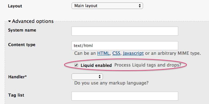Enable Liquid tags