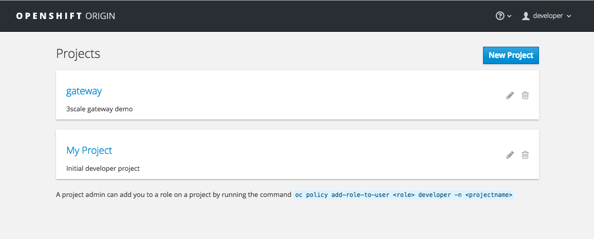 Openshift Projects