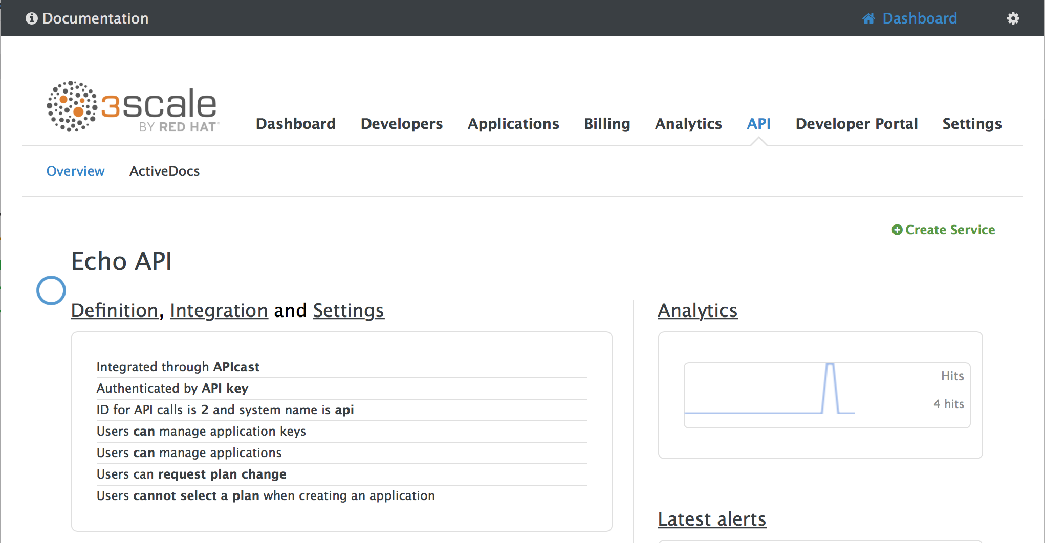 navigate to APIcast integrations page