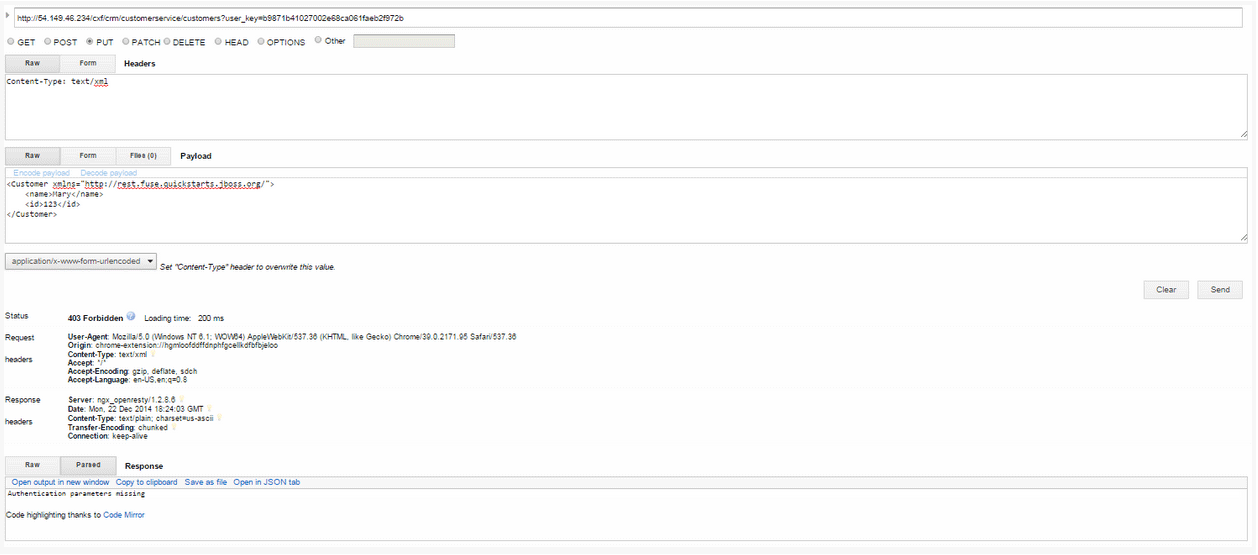 Update customer