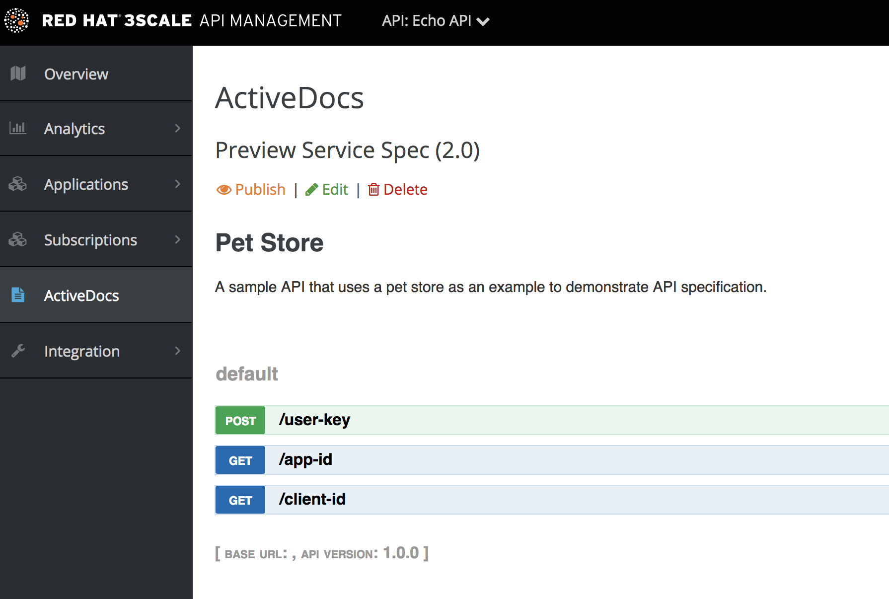 ActiveDocs new specification view