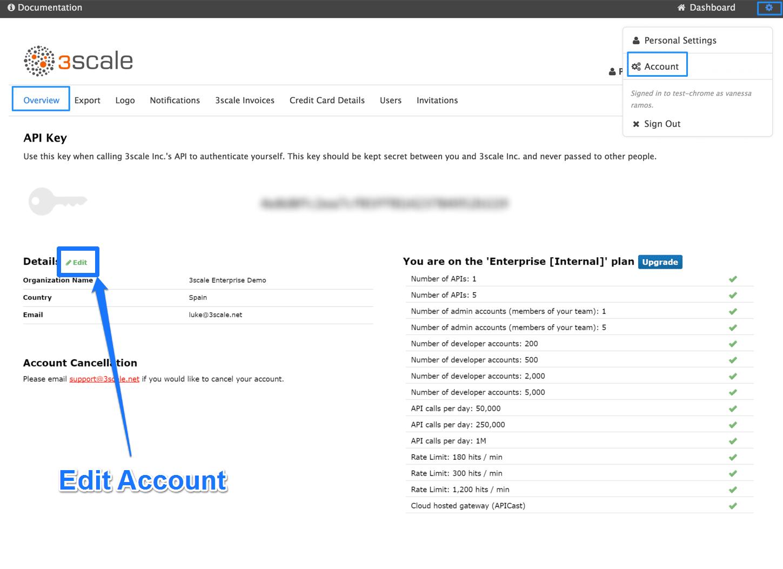 Account configuration
