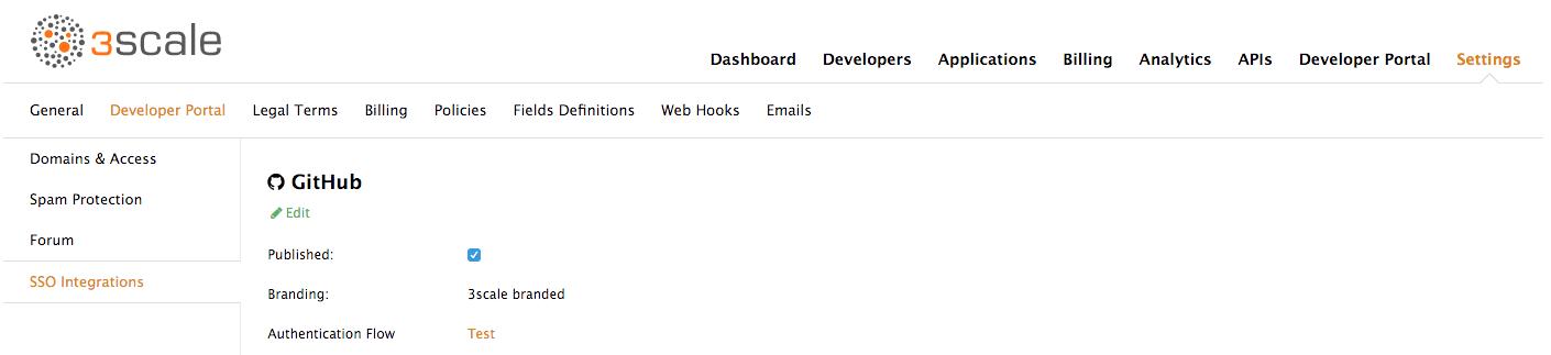 Edit SSO integrations