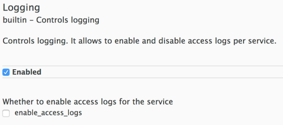 Logging Policy Configuration