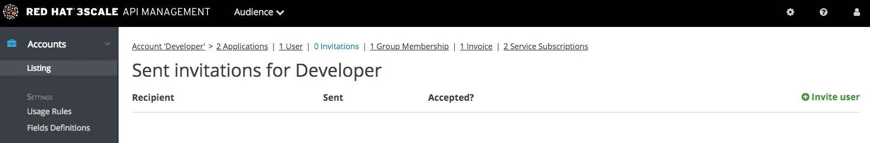 Developer invite user