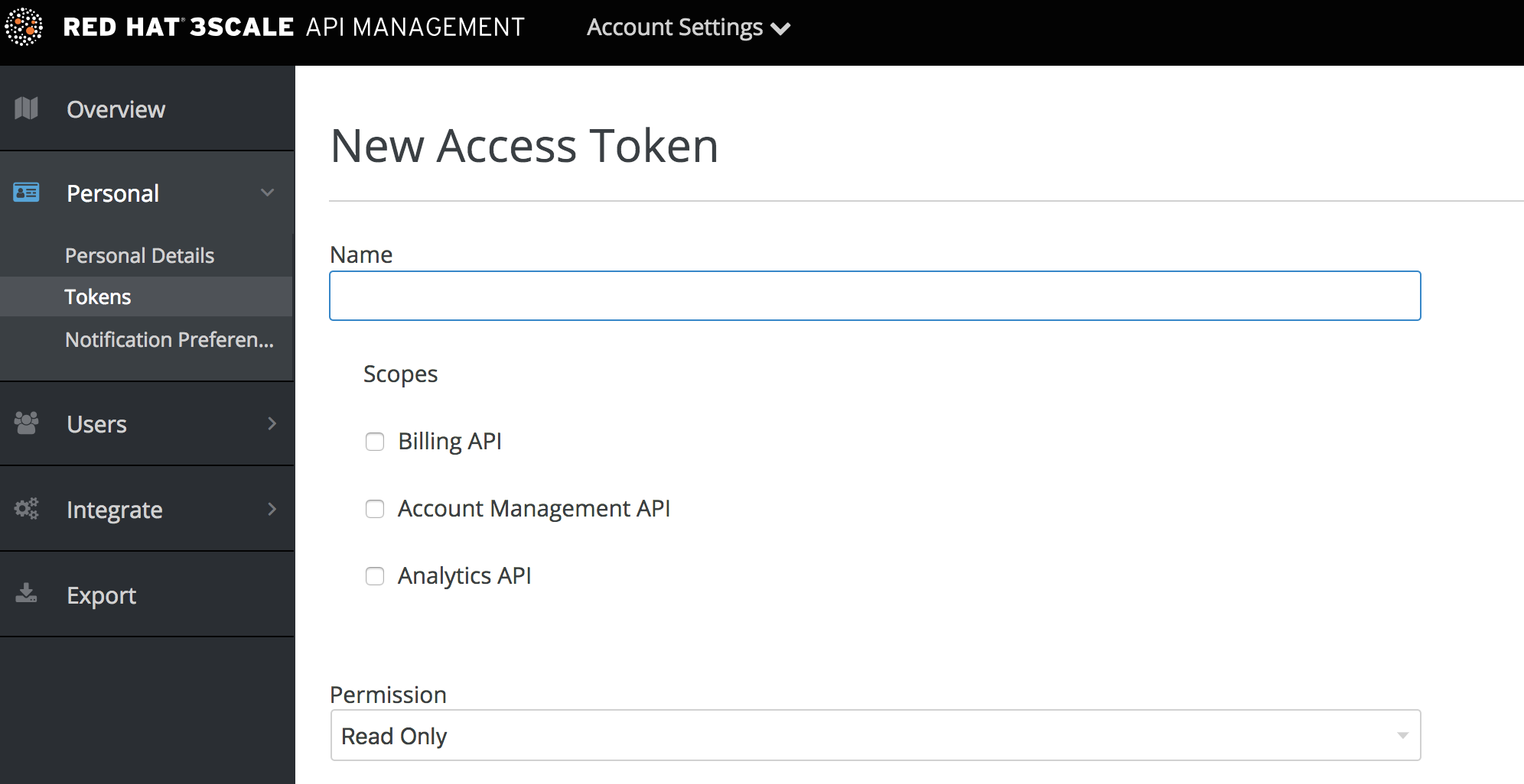 New access token