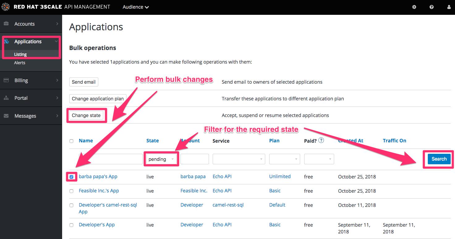 Developer bulk approvals apps