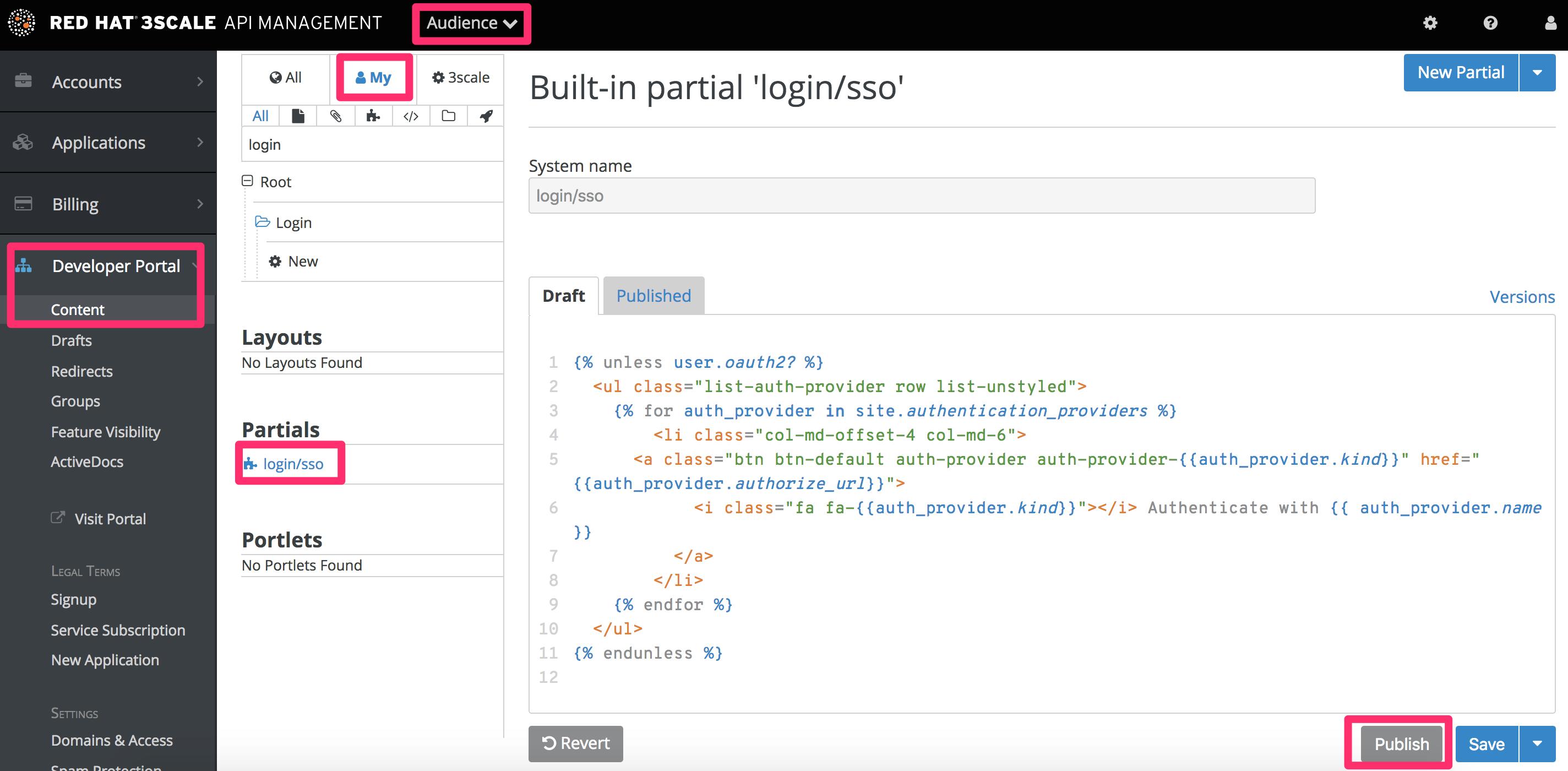 Developer Portal Partials