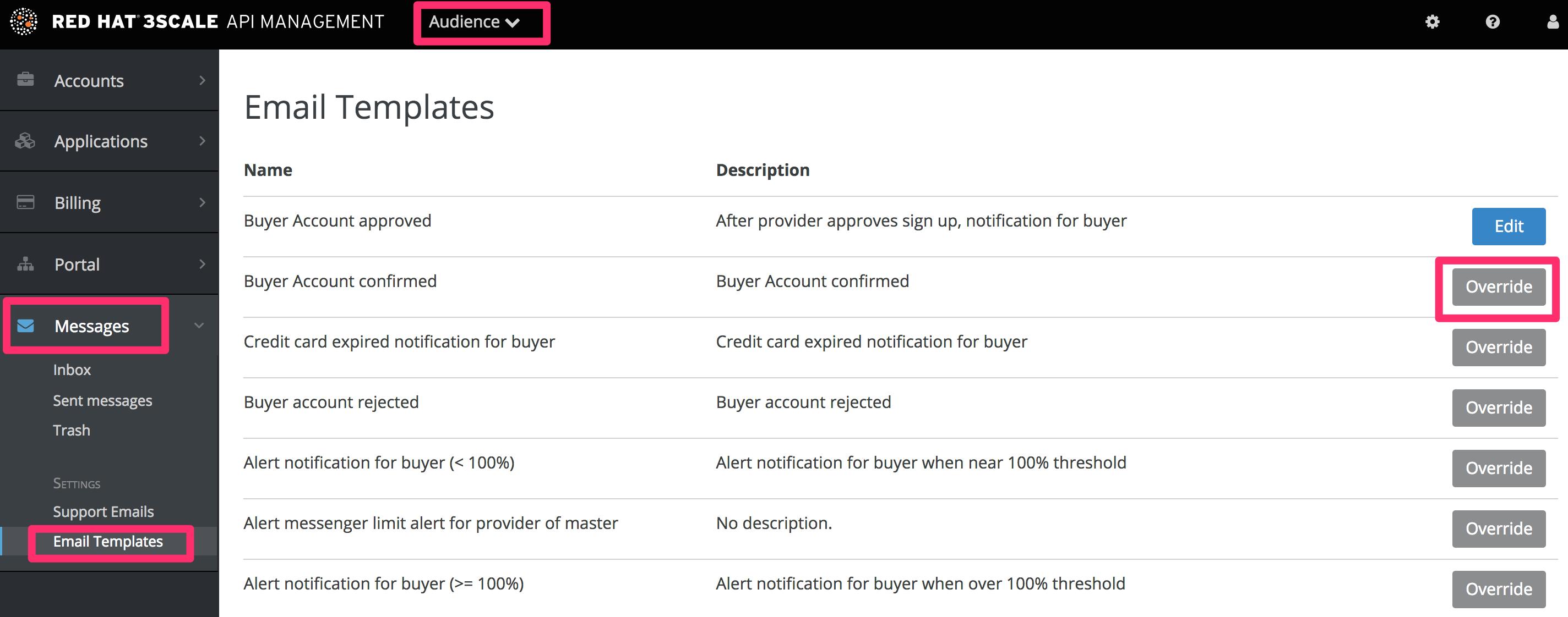 Developer signup flow email templates