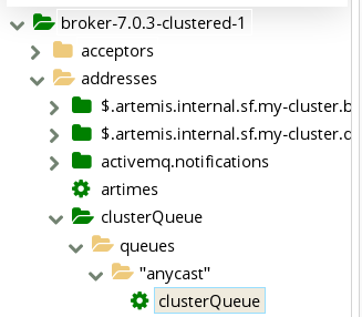 AMQ Management Console Queue in Folder Tree