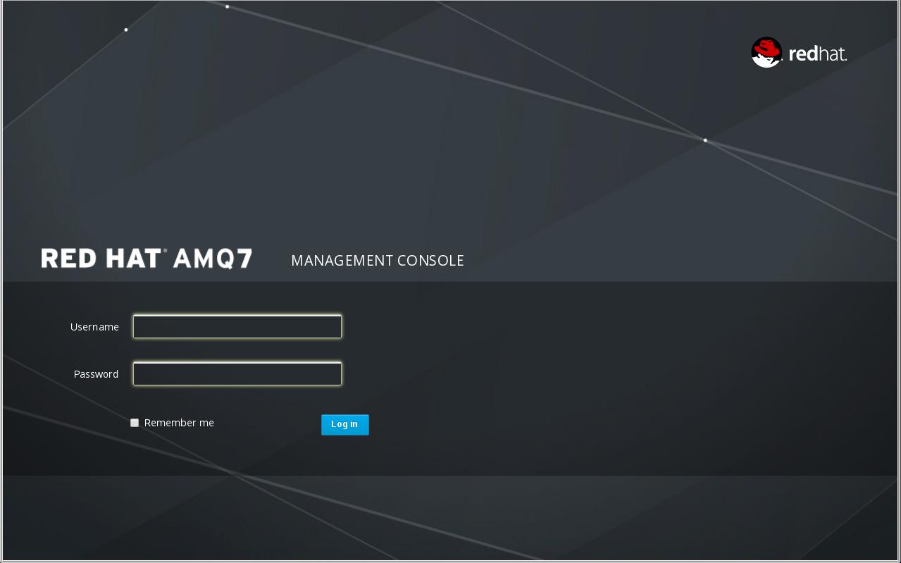 AMQ Management Console Login Page