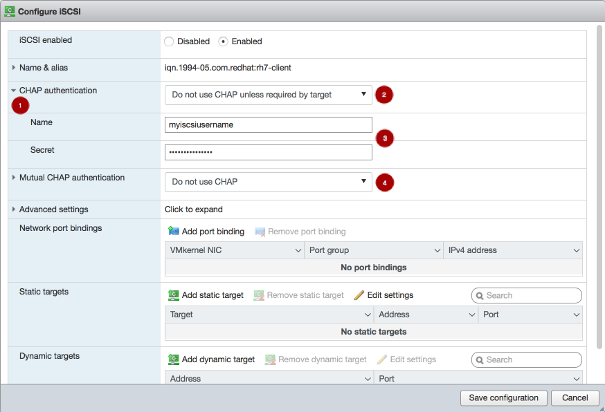 esx web client chap mod step3