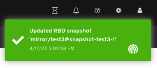 Snapshot update of the image notification