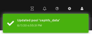 Pool edit notification