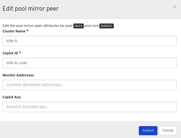 Edit peer Window