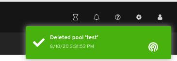 Pool delete notification