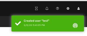 User create notification