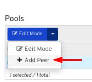 Click Add peer