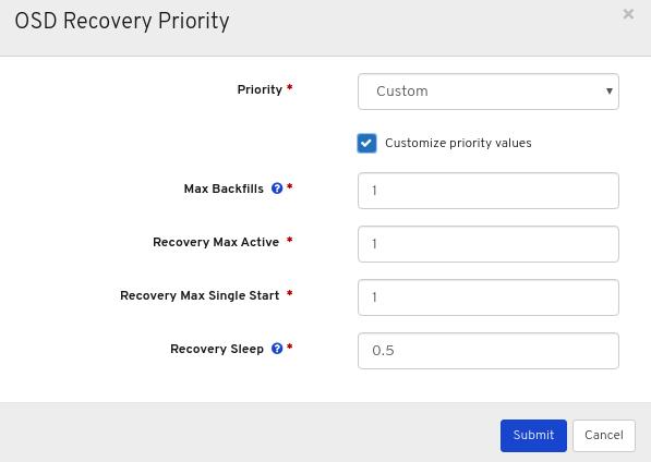 Customize priority values