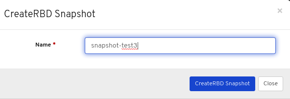 Create snapshot of the image dialog