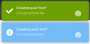Pool created notification