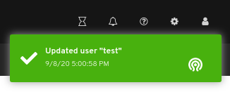 User edit notification