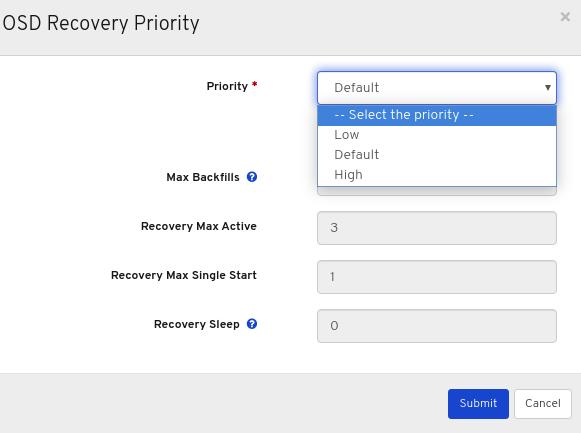 Default priority values