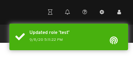 Edit role notification