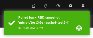 Rollback Snapshot of the image notification