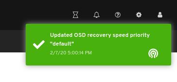 OSD リカバリー速度の優先度更新通知