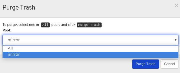 Purge Trash ウィンドウ